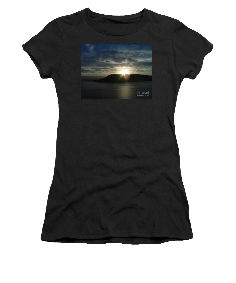 Black Butte Lake Women's T-Shirt (Athletic Fit) featuring the photograph Black Butte Sunrise by Peter Piatt