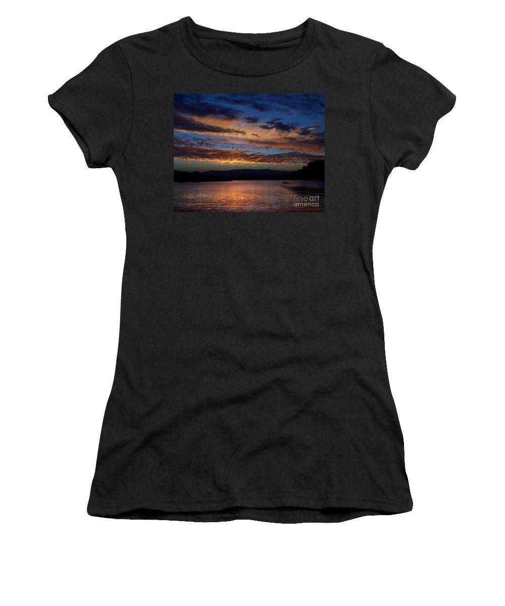 Black Butte Sunset Women's T-Shirt featuring the photograph Black Butte Sunset by Peter Piatt
