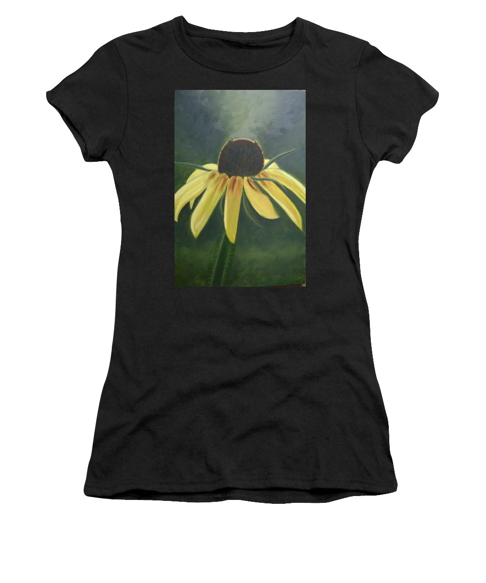 Flower Women's T-Shirt (Athletic Fit) featuring the painting Black Eyed Susan by Toni Berry