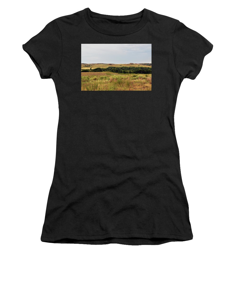 Black Kettle National Grassland Women's T-Shirt (Athletic Fit) featuring the photograph Black Kettle View by Wes Hanson