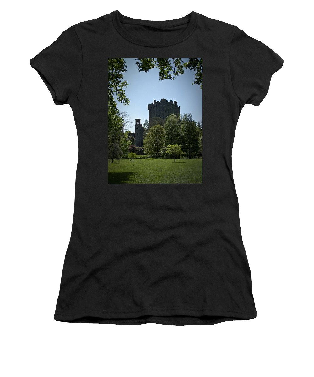 Irish Women's T-Shirt (Athletic Fit) featuring the photograph Blarney Castle Ireland by Teresa Mucha