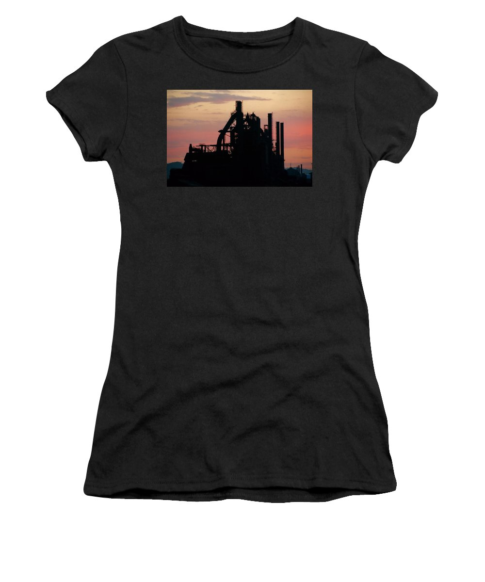 Blast Furnace Women's T-Shirt (Athletic Fit) featuring the photograph Blast From The Past by DJ Florek