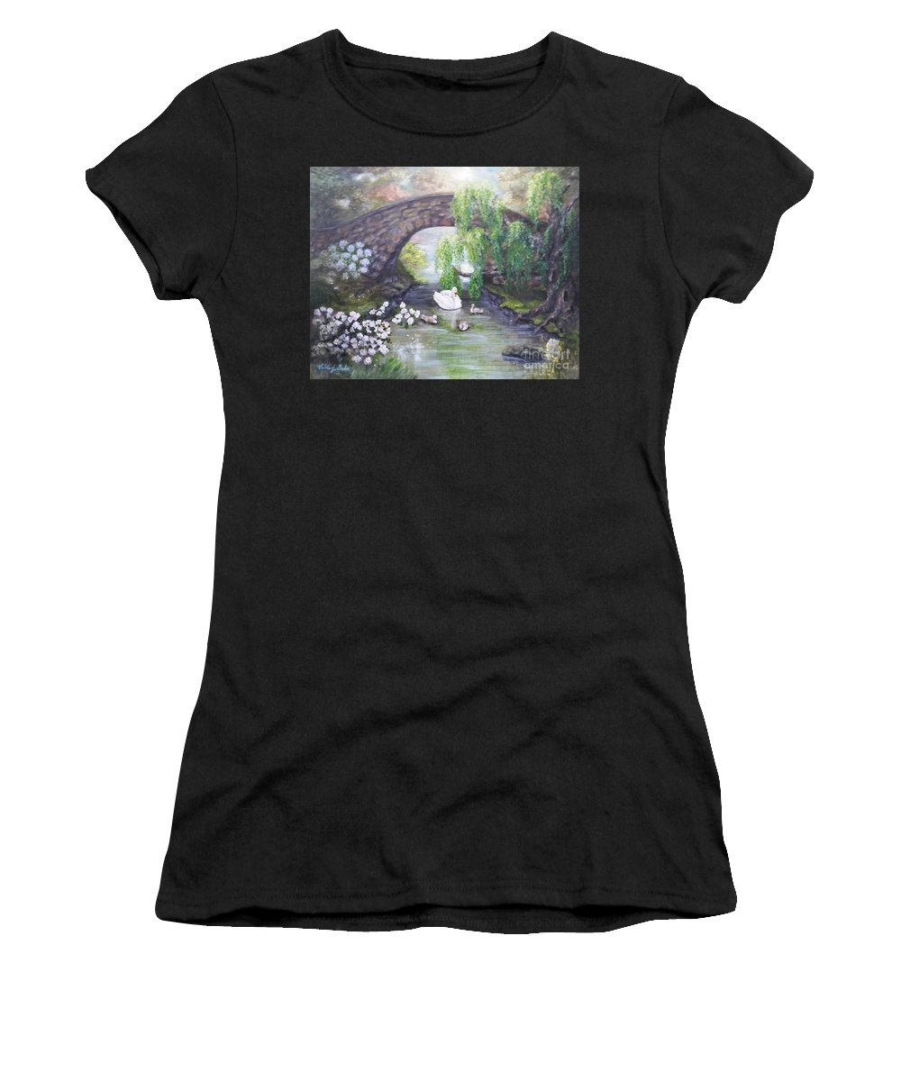 Impressionism Women's T-Shirt featuring the painting Blissful Morning by Valerie Gordon