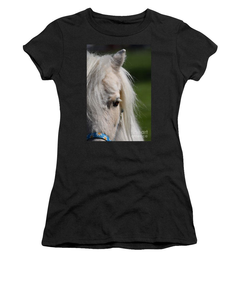 Pony Women's T-Shirt featuring the photograph Blondie by LKB Art and Photography