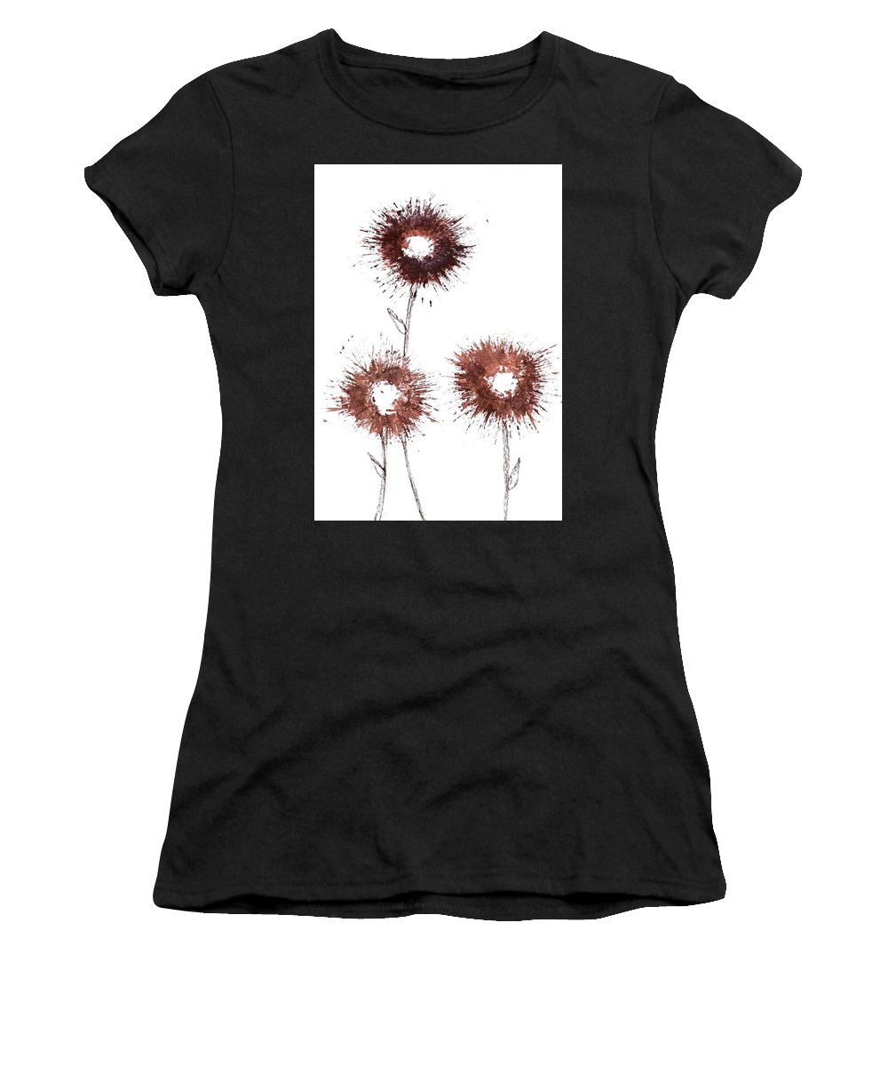 Flowers Women's T-Shirt (Athletic Fit) featuring the drawing Blood Flower by La Superior