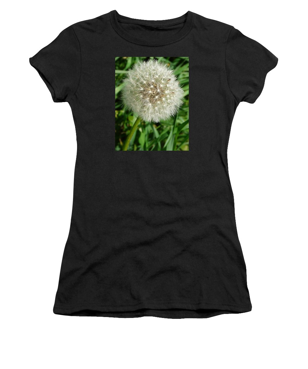 Blowball Women's T-Shirt (Athletic Fit) featuring the photograph Blowball 1 by Valerie Ornstein