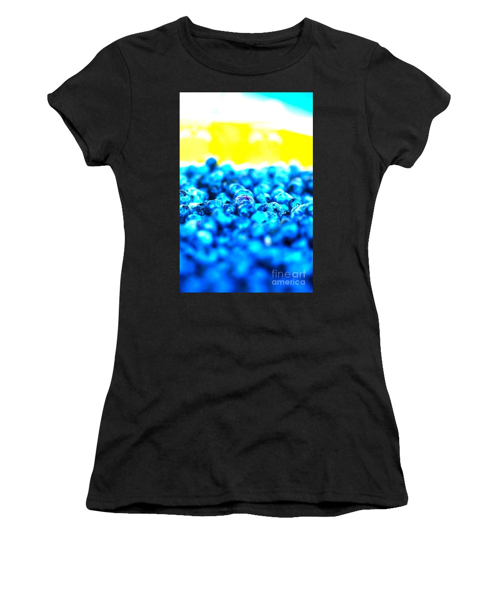 Blue Women's T-Shirt featuring the photograph Blue Blur by Nadine Rippelmeyer