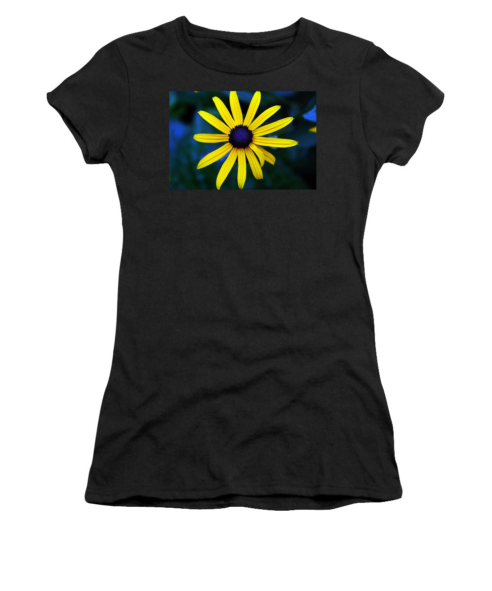 Blue Eyes Women's T-Shirt (Athletic Fit) featuring the photograph Blue Eyes by Susanne Van Hulst