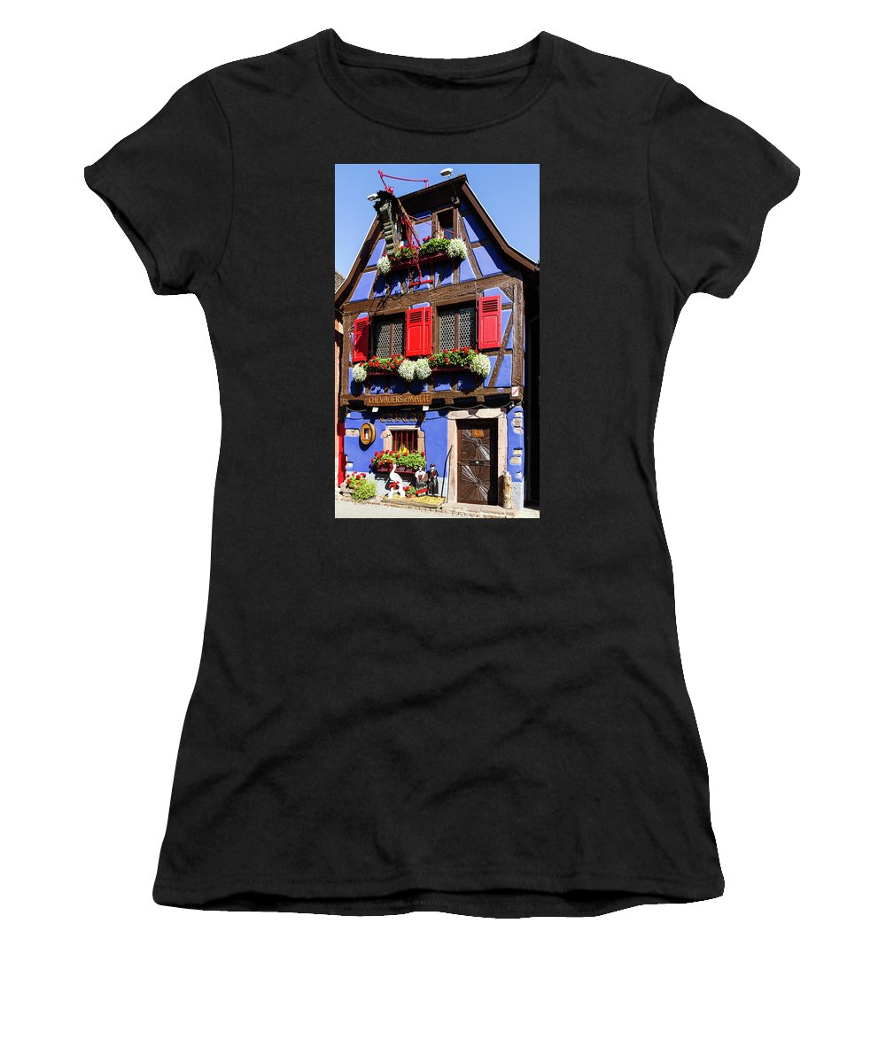 House Women's T-Shirt featuring the photograph Blue House # I by Paul MAURICE