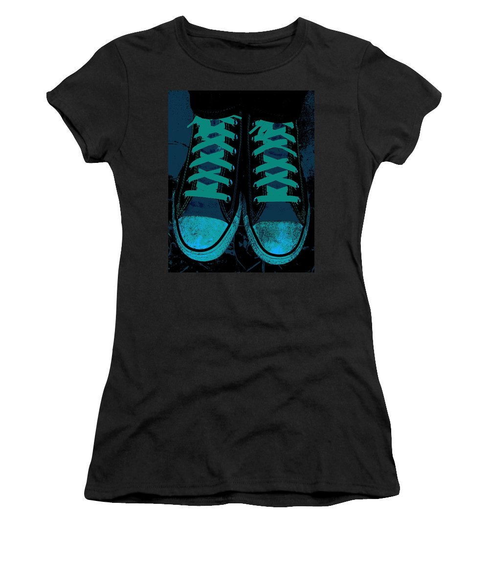 Blue Jean Blues Women's T-Shirt (Athletic Fit) featuring the photograph Blue Jean Blues by Ed Smith