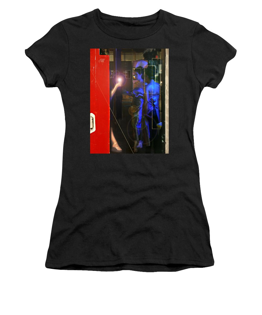 Female Figures Women's T-Shirt (Athletic Fit) featuring the photograph Blue Muses by Steve Karol