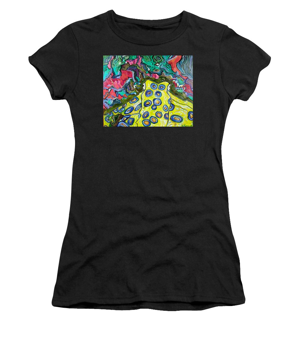 Octopus Women's T-Shirt featuring the painting Blue Ringed Octopus by Heather Lennox