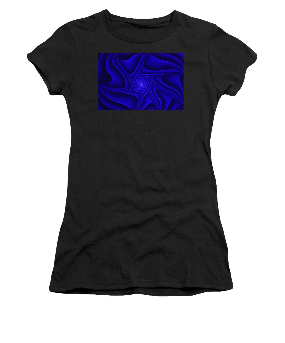 Digital Painting Women's T-Shirt (Athletic Fit) featuring the digital art Blue Slide by David Lane