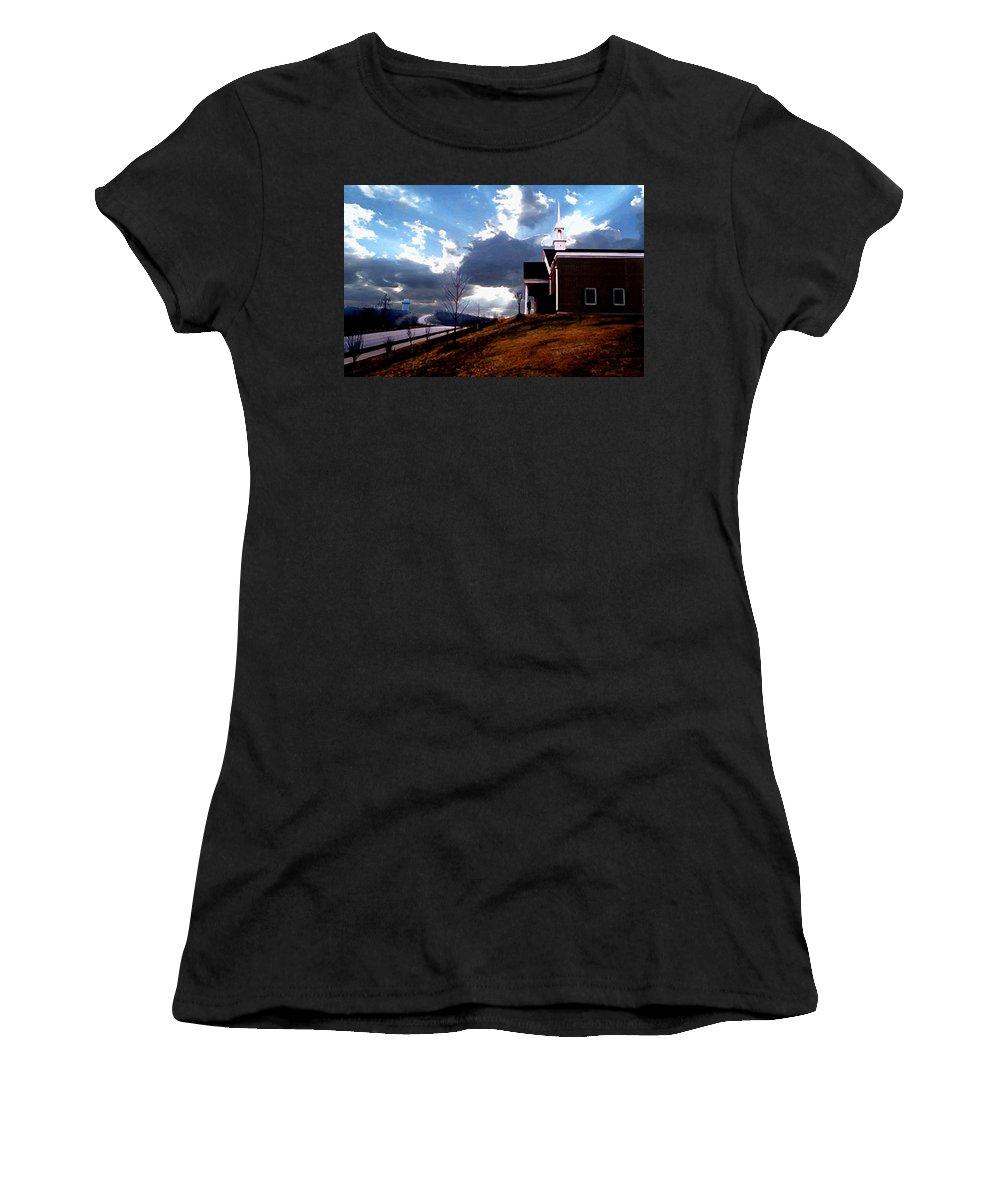 Landscape Women's T-Shirt (Athletic Fit) featuring the photograph Blue Springs Landscape by Steve Karol