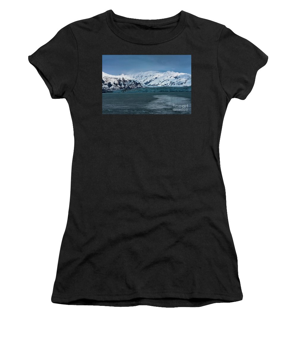 Glacier Women's T-Shirt (Athletic Fit) featuring the photograph Blue Tidewater Glacier by Joe Benning
