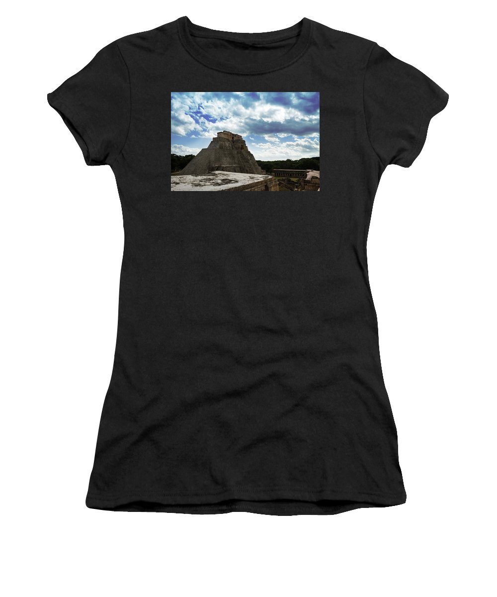Ruin Women's T-Shirt featuring the photograph Blue Uxmal by Jose Manuel Diaz Perez