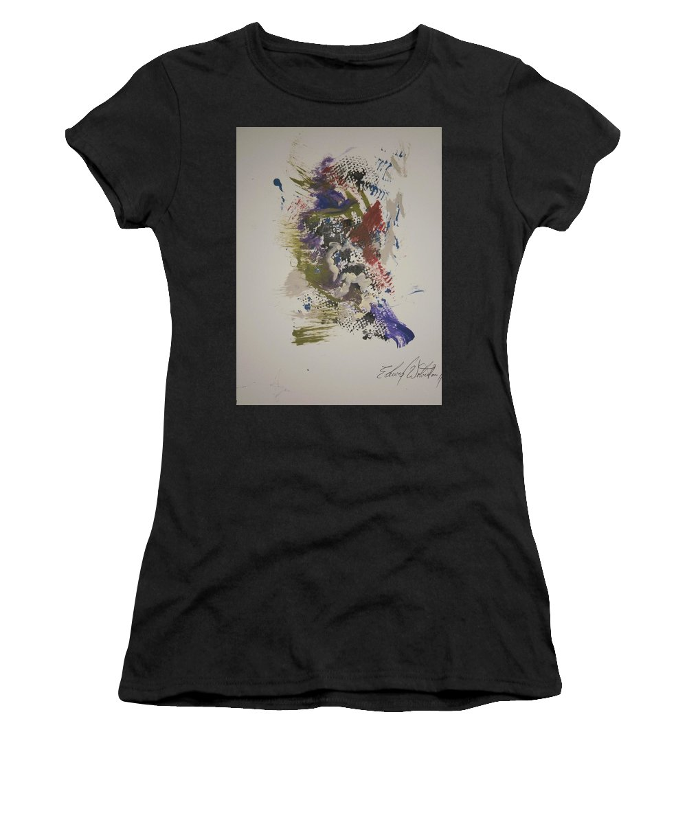 Bluebird Women's T-Shirt (Athletic Fit) featuring the painting Bluebird Of Happiness by Edward Wolverton