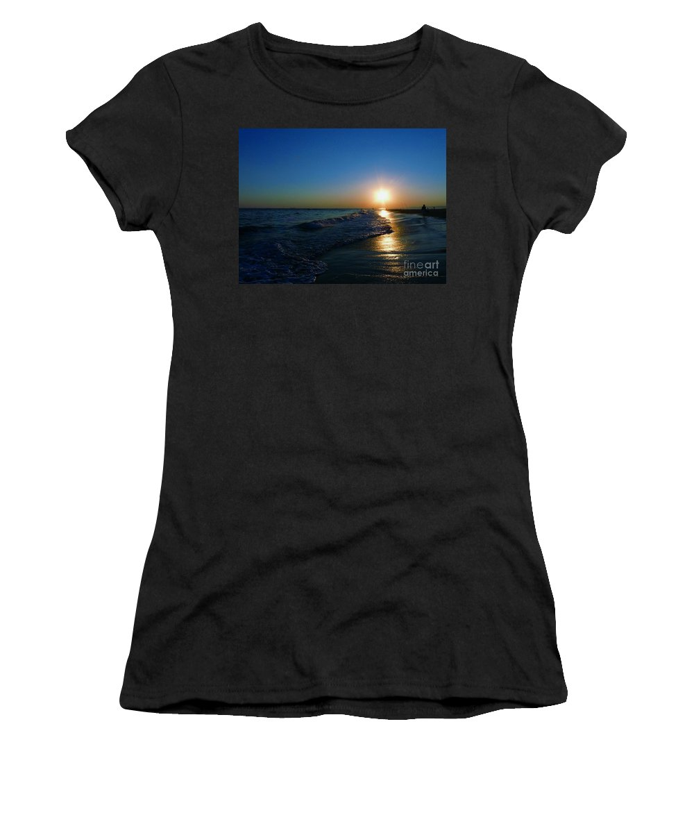 Landscape Women's T-Shirt (Athletic Fit) featuring the photograph Blues In The Evening by Kendall Eutemey