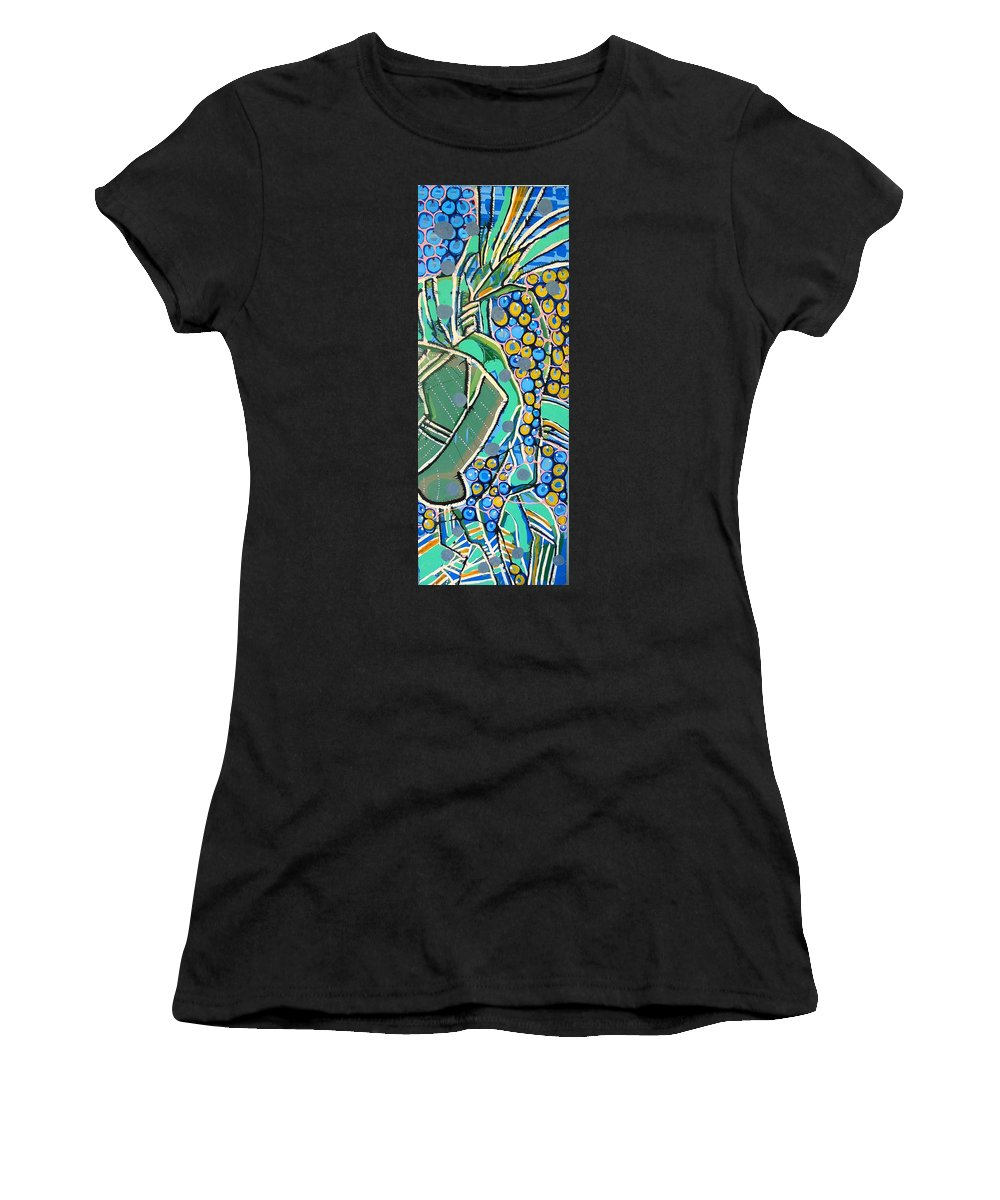 Oil Women's T-Shirt featuring the painting Bluevasa by Laura Vizbule