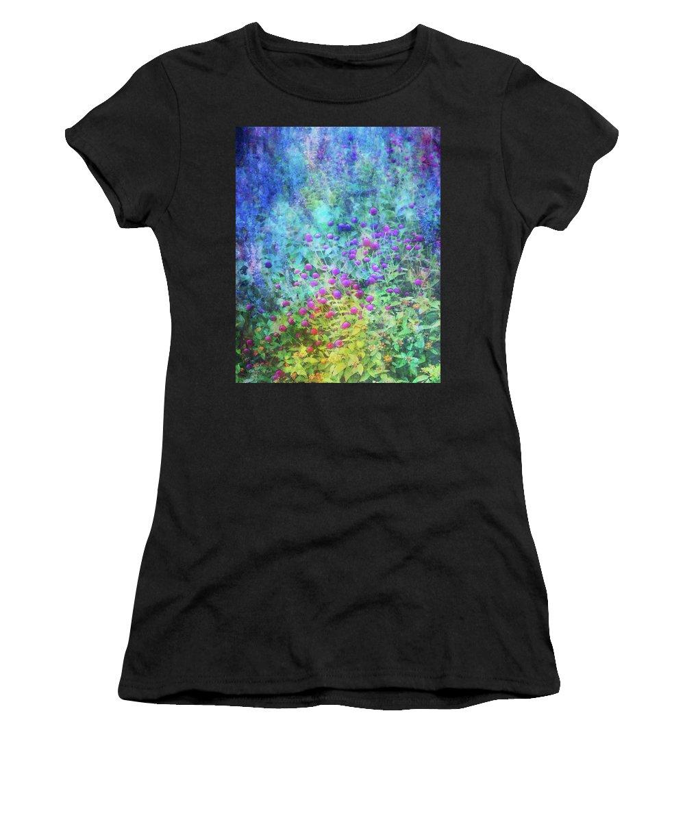 Blurred Women's T-Shirt featuring the photograph Blurred Garden 4798 Idp_2 by Steven Ward