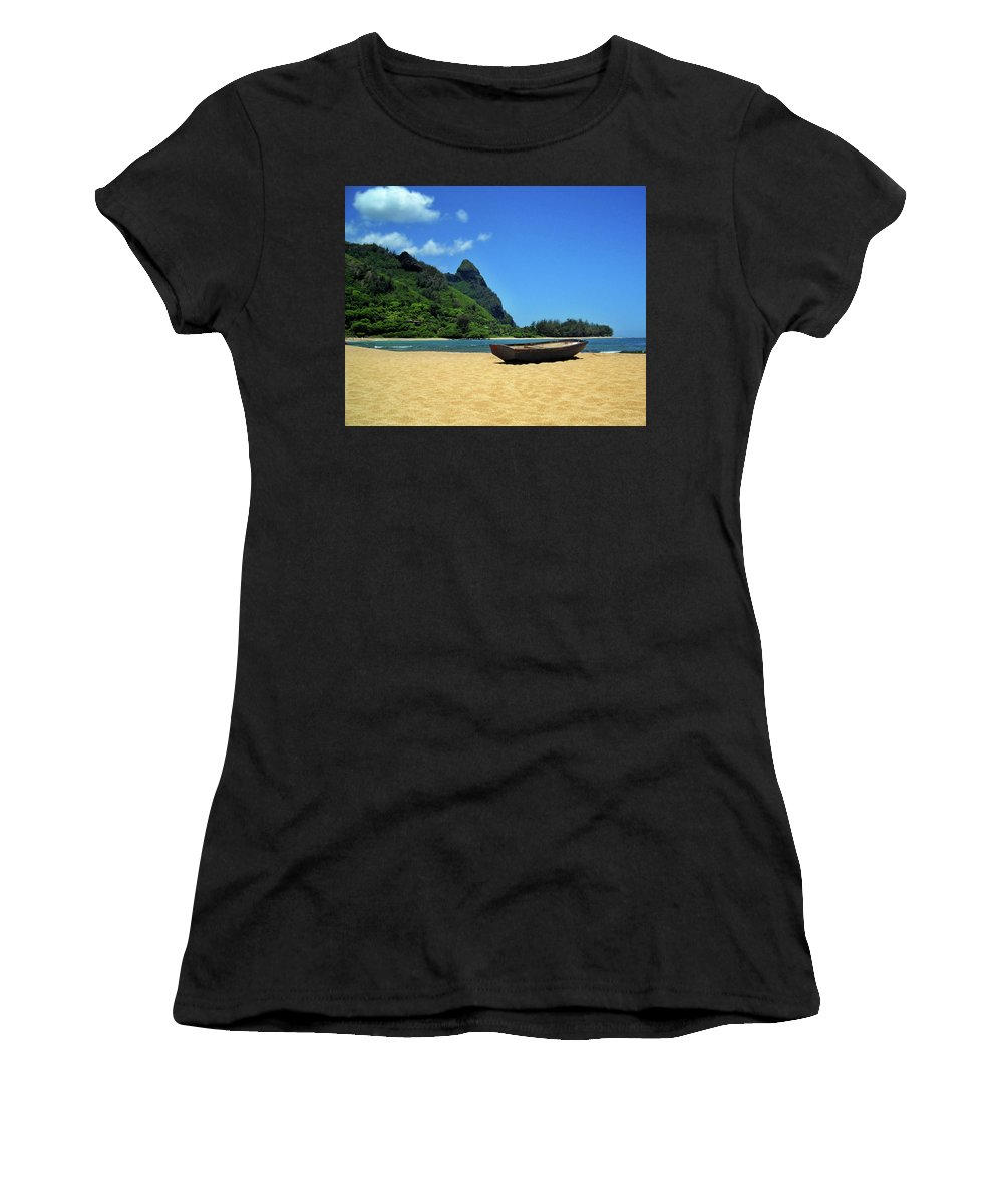 Boat Women's T-Shirt featuring the photograph Boat And Bali Hai by James Eddy