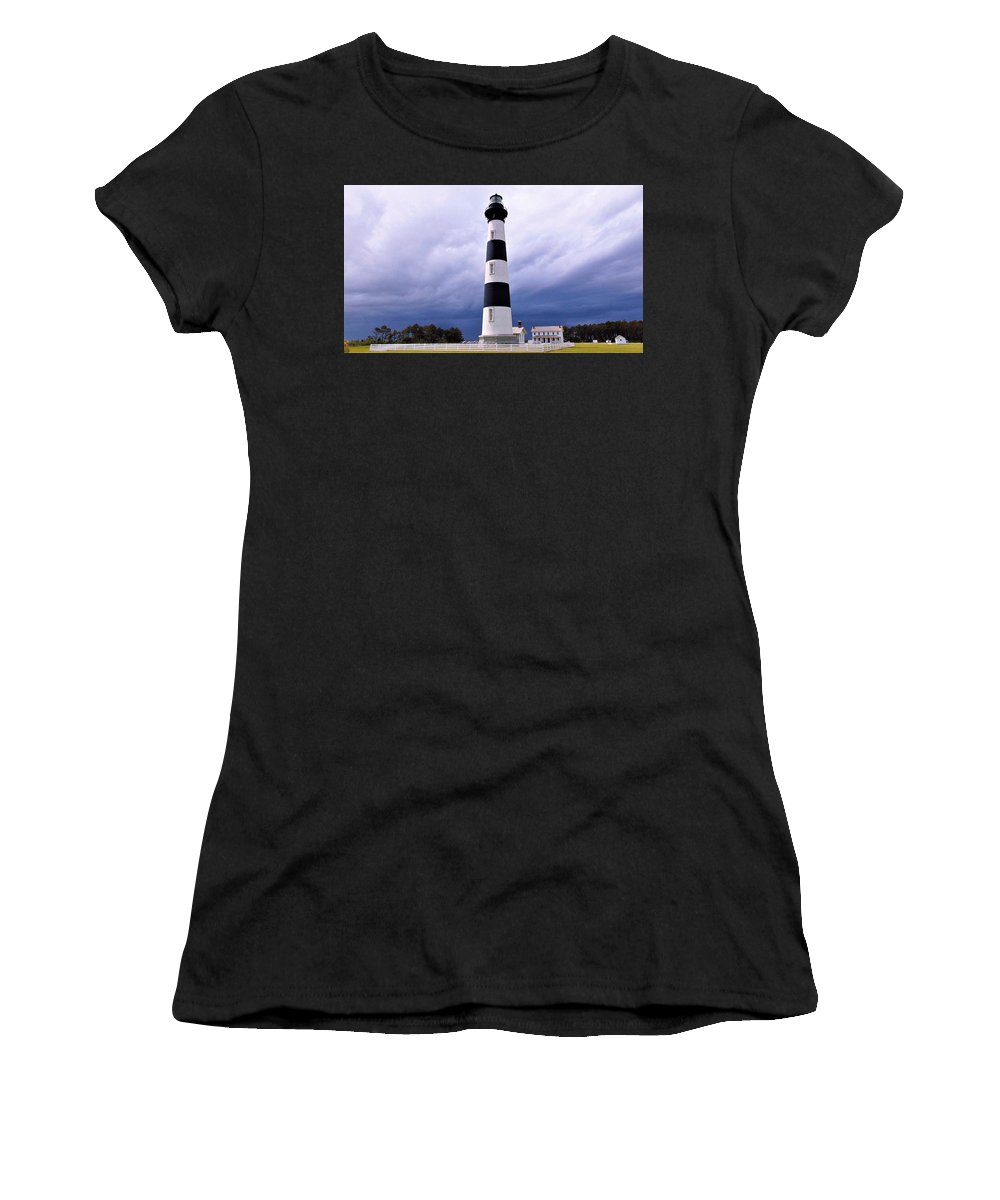Outer Banks Women's T-Shirt featuring the photograph Bodie Island Contrast by Sean Paul Ballentine