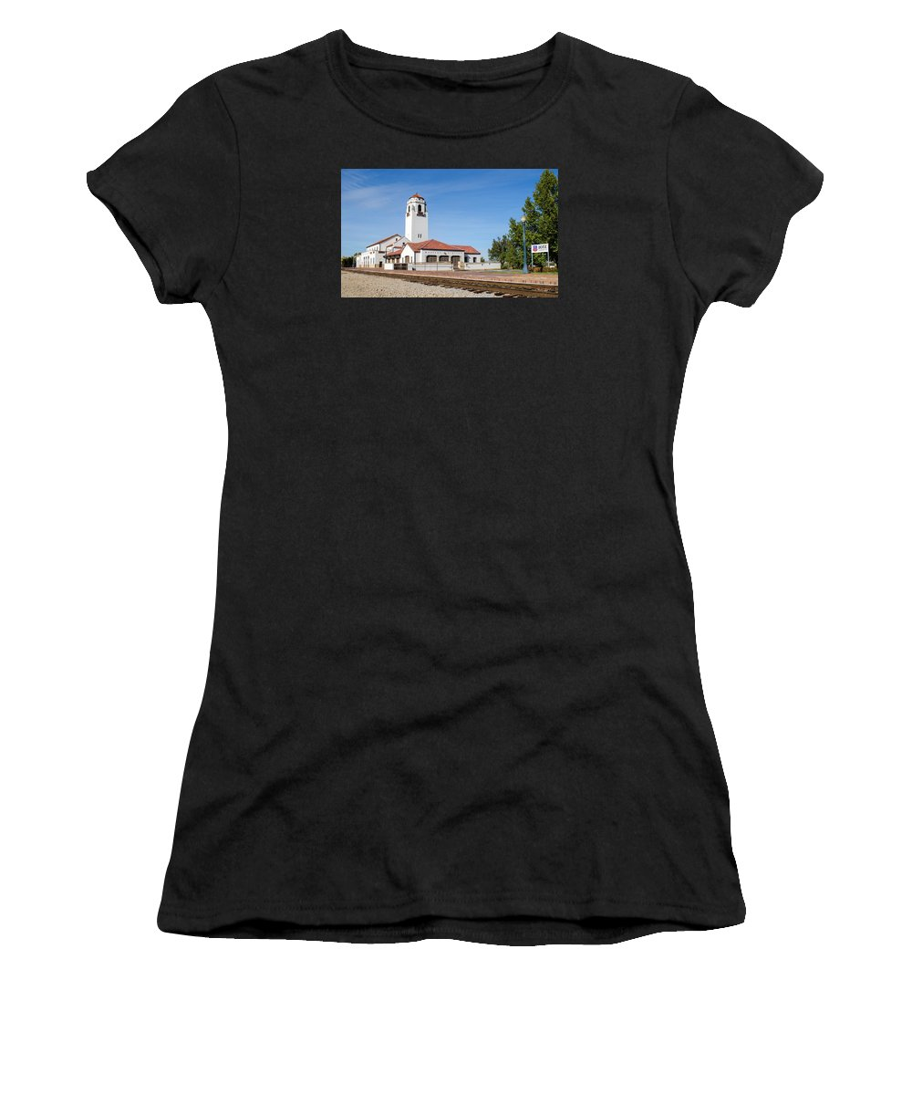 Boise Women's T-Shirt (Athletic Fit) featuring the photograph Boise Depot-elevation 2753 by Shanna Hyatt