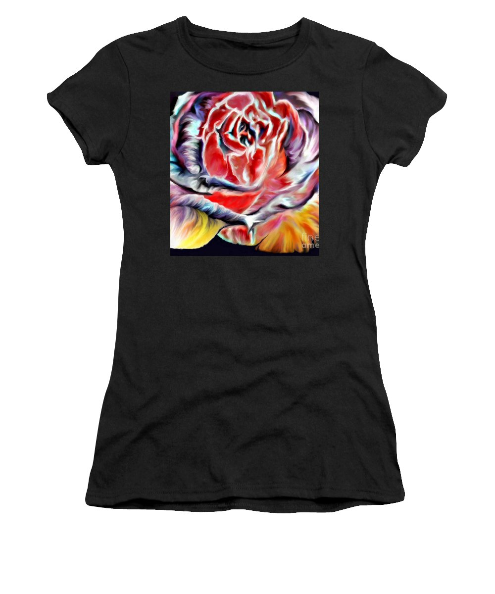 Florals Women's T-Shirt (Athletic Fit) featuring the digital art Borili by Brenda L Spencer
