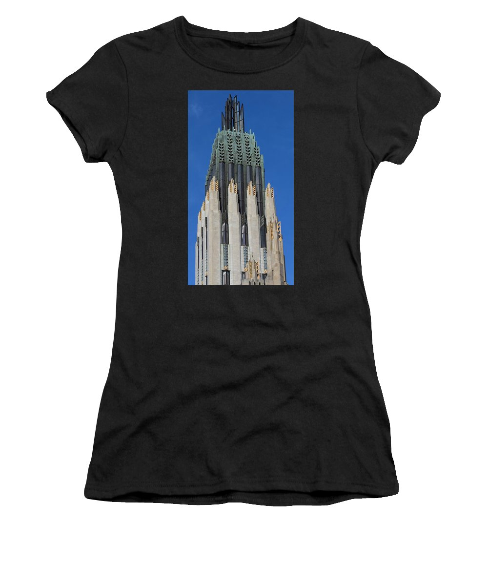 Boston Avenue Church Women's T-Shirt (Athletic Fit) featuring the photograph Boston Avenue Church 9 by Timothy Smith