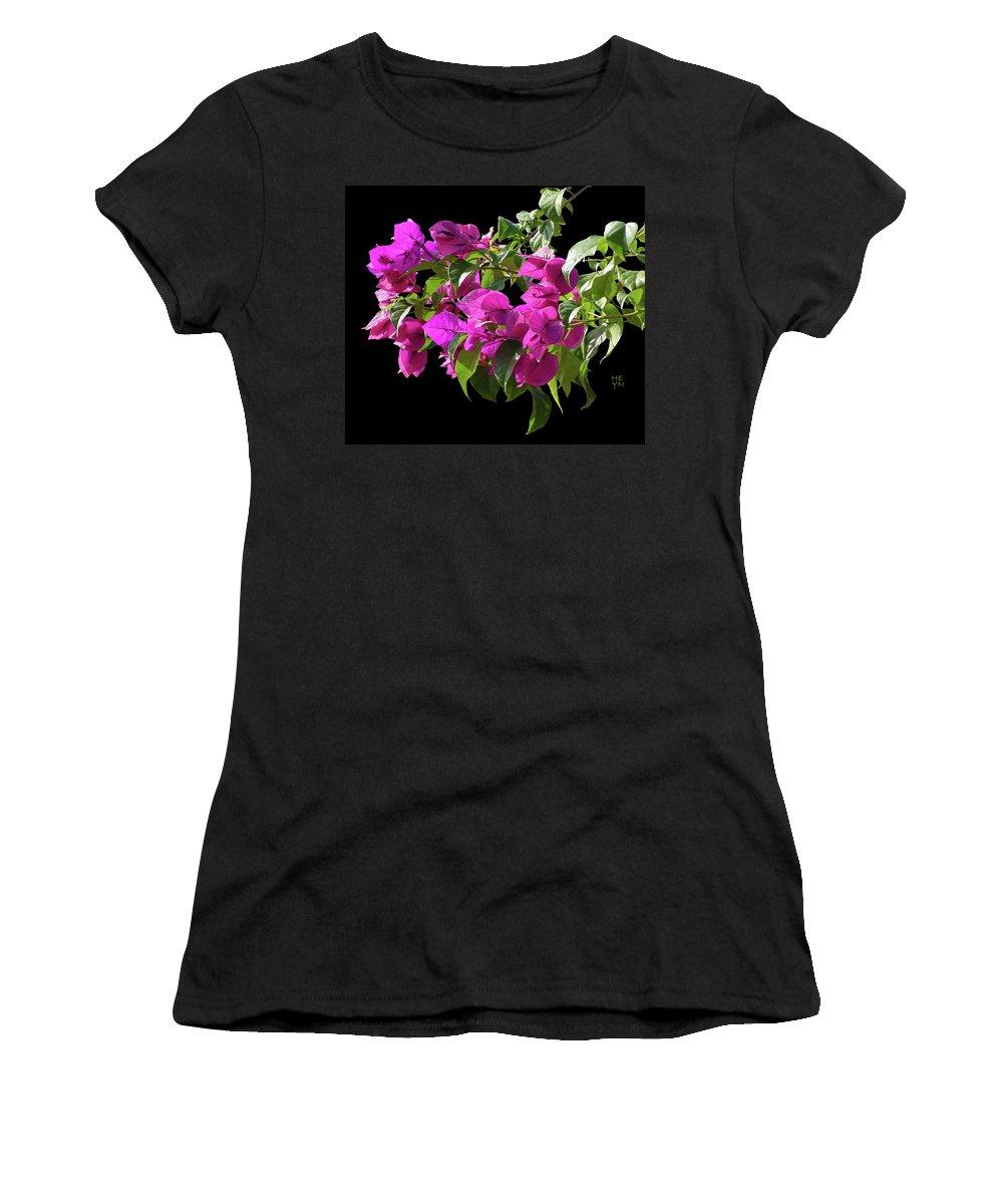 Cutout Women's T-Shirt featuring the photograph Bougainvillea Cutout by Shirley Heyn