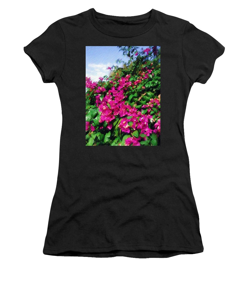 Bougainvillea Women's T-Shirt (Athletic Fit) featuring the photograph Bougainvillea by Sandy MacGowan