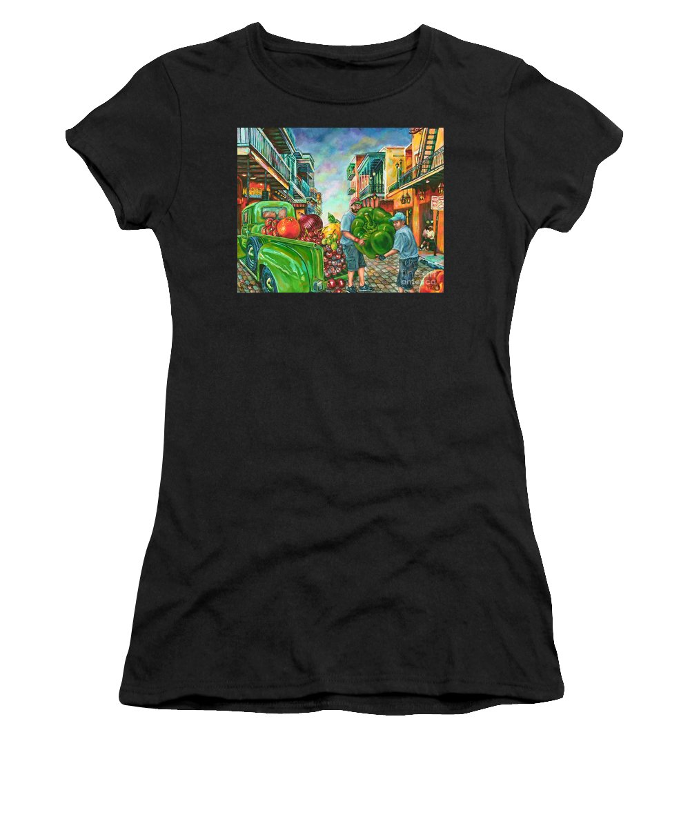 Art Women's T-Shirt (Athletic Fit) featuring the painting Bounty Full by Lisa Tygier Diamond