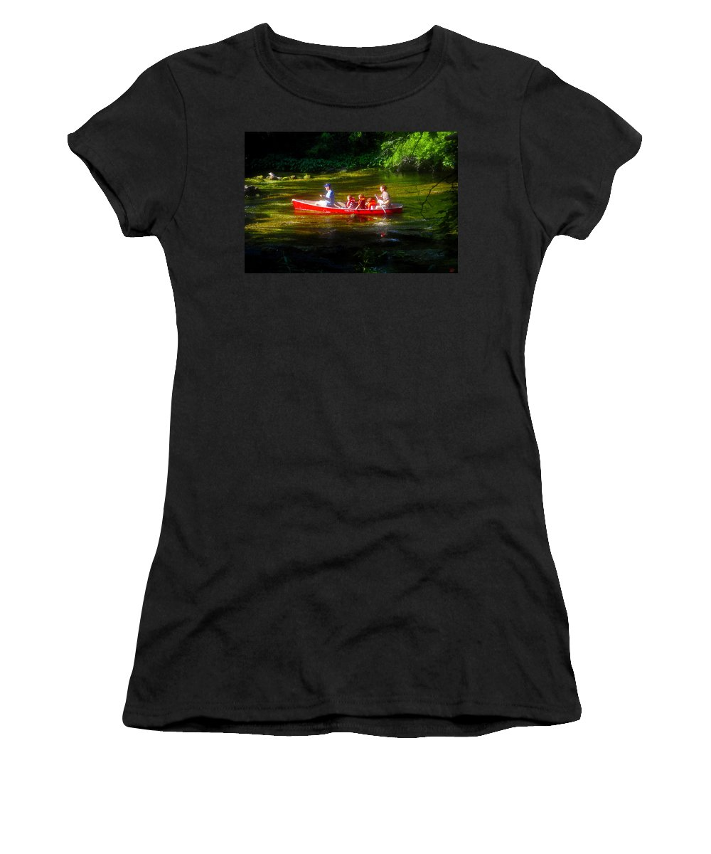 Boys Women's T-Shirt (Athletic Fit) featuring the painting Boy's Day Out by David Lee Thompson
