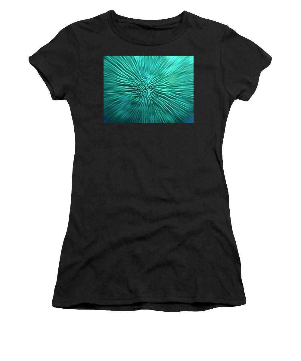 Brain Women's T-Shirt (Athletic Fit) featuring the photograph Brain Coral by Robert Stein
