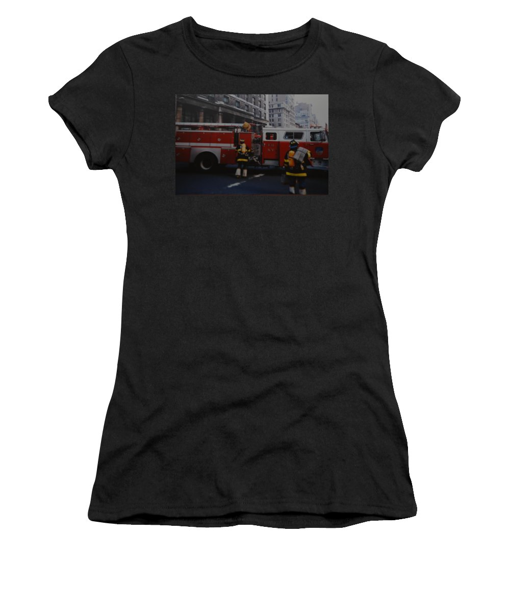 Fdny Women's T-Shirt featuring the photograph Bravest Of The Brave by Rob Hans