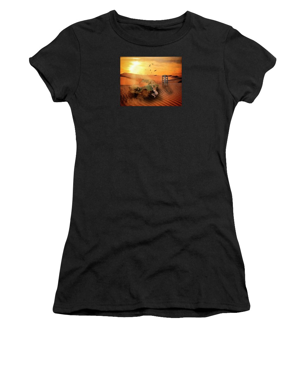 Desert Women's T-Shirt (Athletic Fit) featuring the digital art Breakdown by Terry Fleckney