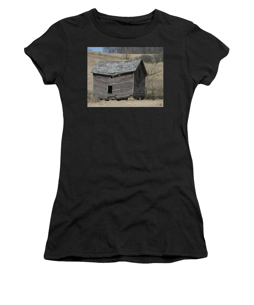 Old Barns Women's T-Shirt featuring the photograph Breaking Up by Bjorn Sjogren