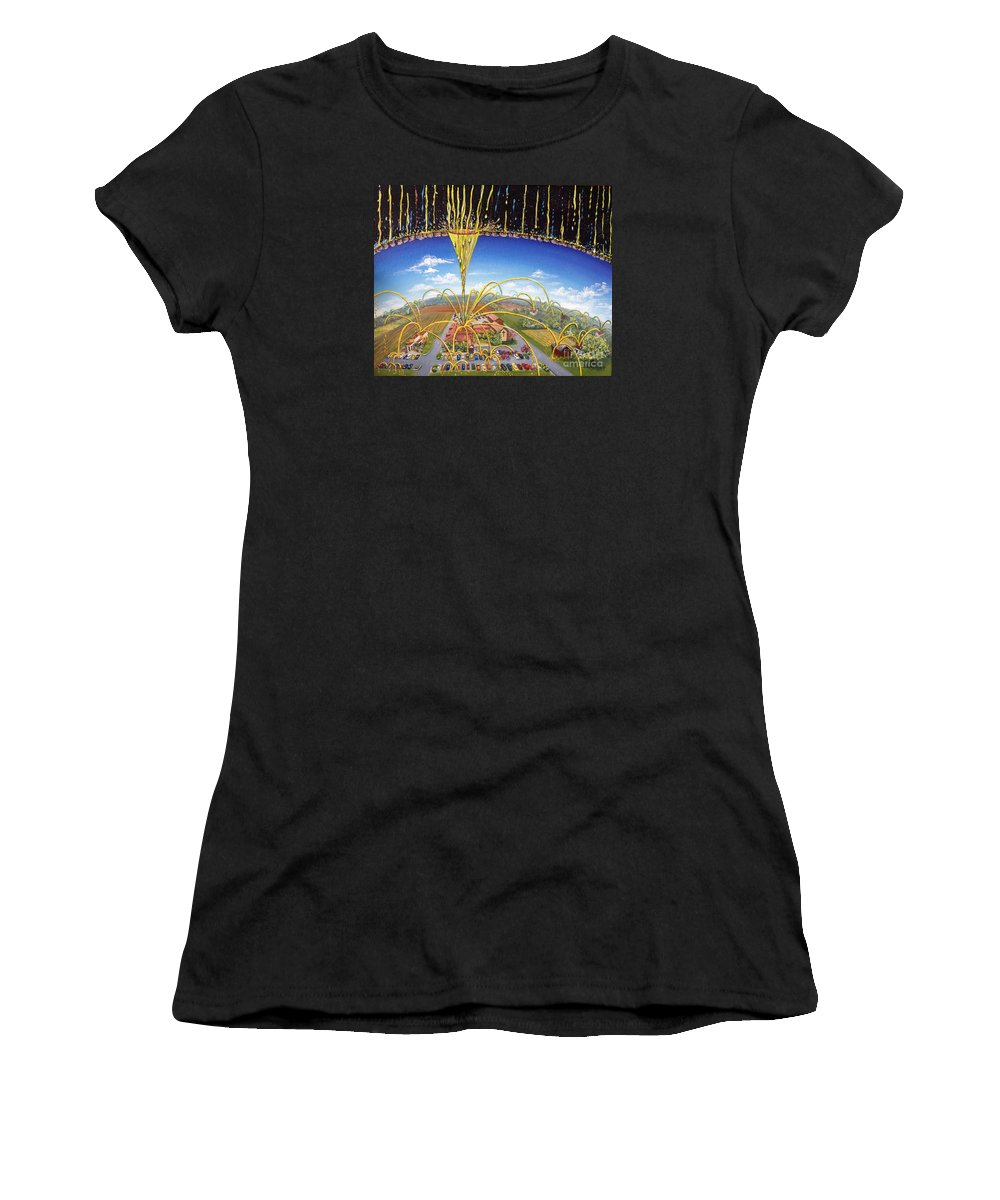 Jesus Women's T-Shirt (Athletic Fit) featuring the painting Breakthrough by Nancy Cupp