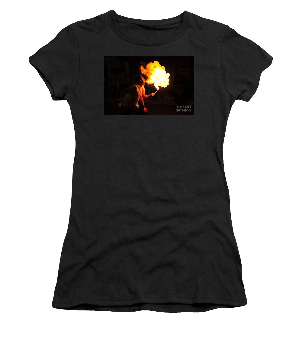 Fire Women's T-Shirt featuring the photograph Breath Of Fire by David Lee Thompson