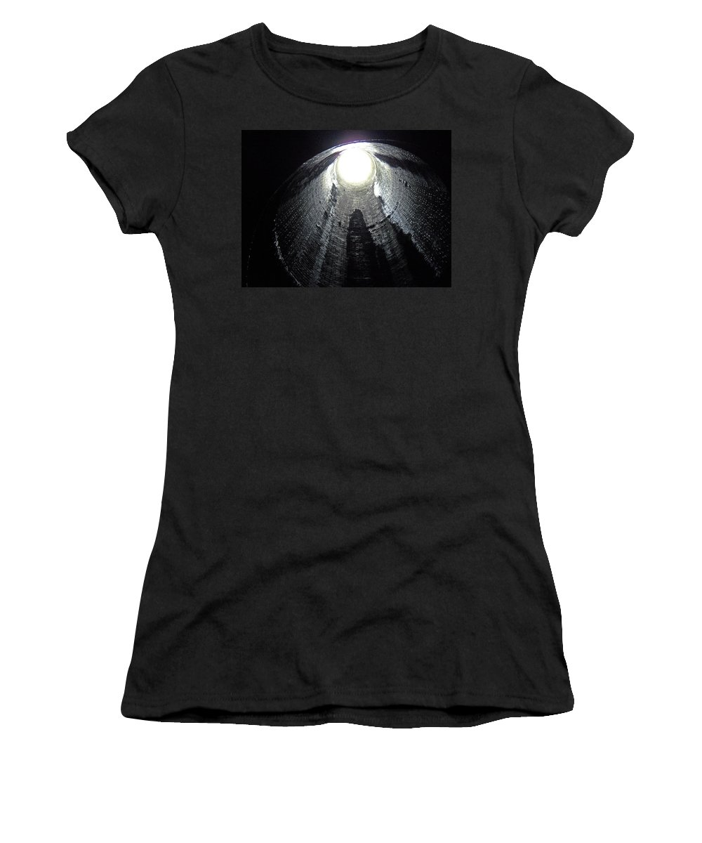 Train Women's T-Shirt (Athletic Fit) featuring the photograph Breathe Pipe by Julia Raddatz
