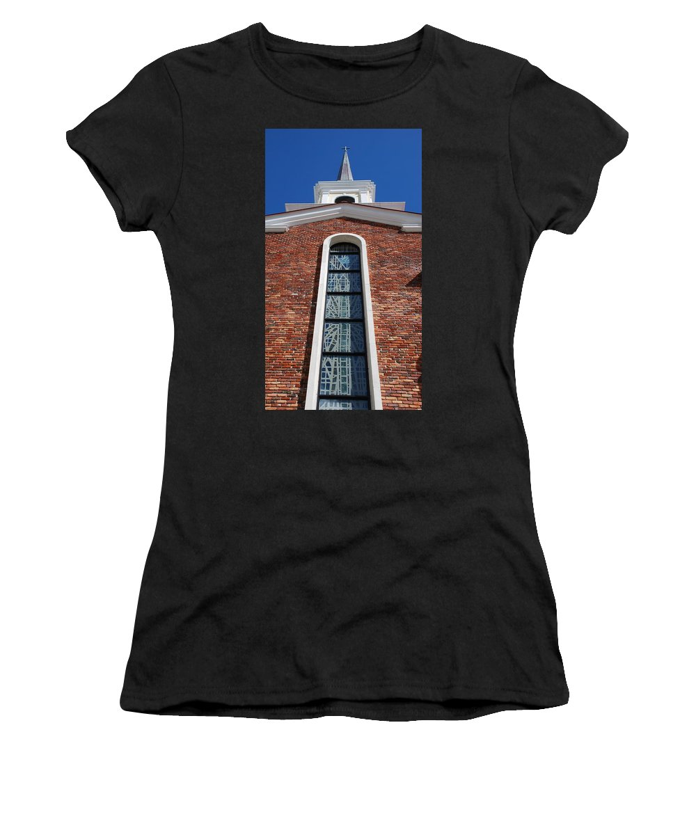 Architecture Women's T-Shirt (Athletic Fit) featuring the photograph Brick Church by Rob Hans