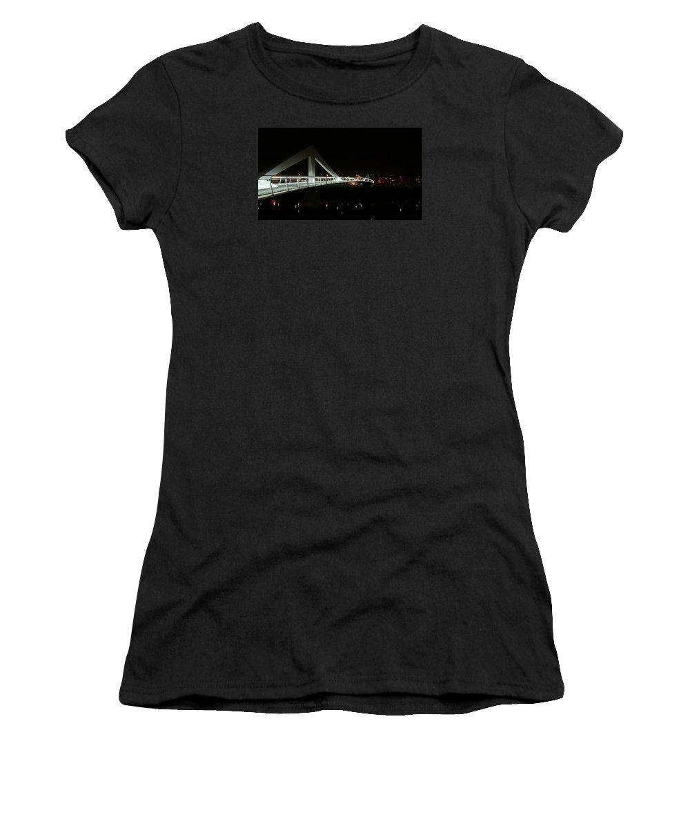 Bridge Women's T-Shirt (Athletic Fit) featuring the photograph Bridge by Bastian Brisch