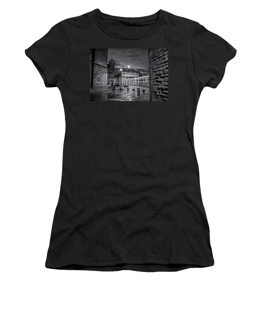 Bridge Women's T-Shirt (Athletic Fit) featuring the photograph Bridge Hotel by David Pringle