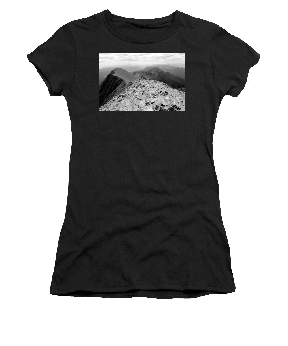 Travel Women's T-Shirt (Athletic Fit) featuring the photograph Bridger Range Two by Nicholas Miller