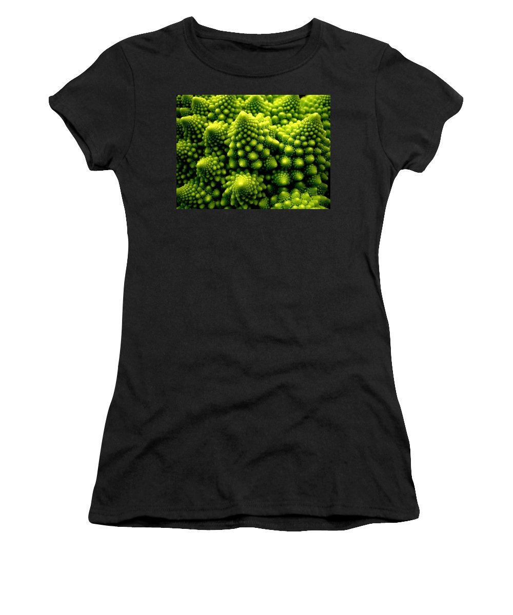Broccoli Women's T-Shirt (Athletic Fit) featuring the photograph Broccoli by Dragica Micki Fortuna