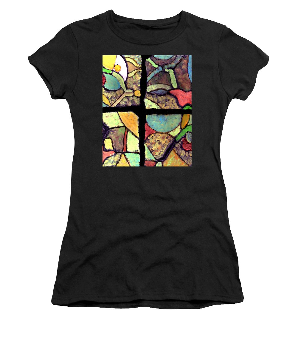 Tiles Women's T-Shirt (Athletic Fit) featuring the painting Broken Dreams by Wayne Potrafka