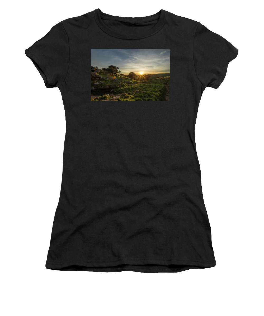 Sunset Women's T-Shirt (Athletic Fit) featuring the photograph Brushy Peak Sunset by Glen Florey