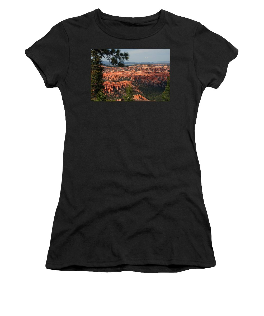 Photography Women's T-Shirt (Athletic Fit) featuring the photograph Bryce Canyon II by Susanne Van Hulst