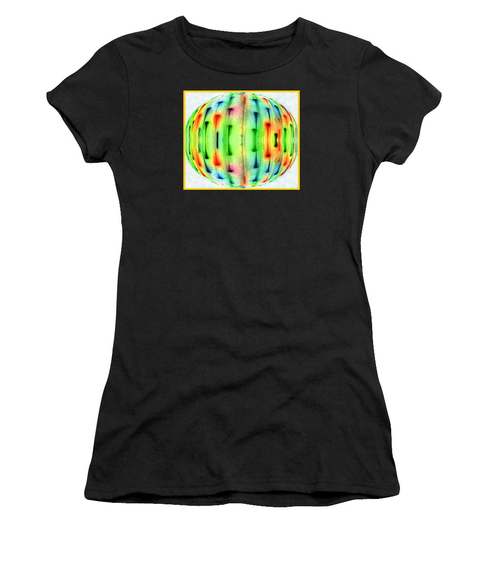 Digital Art Women's T-Shirt (Athletic Fit) featuring the photograph Bubble Lights by Marian Bell