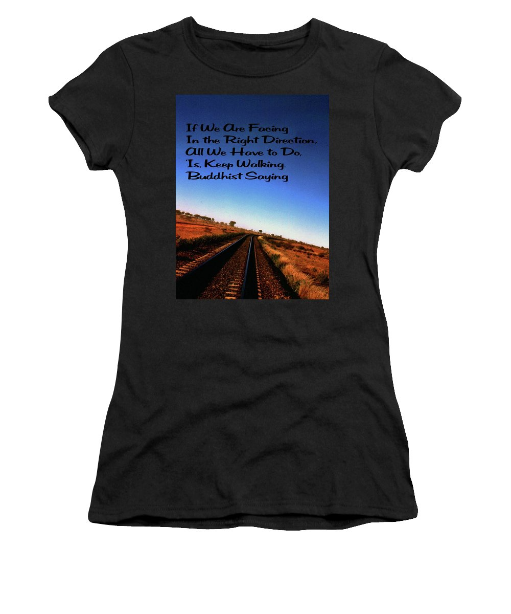 Blue Sky Women's T-Shirt (Athletic Fit) featuring the photograph Buddhist Proverb by Gary Wonning